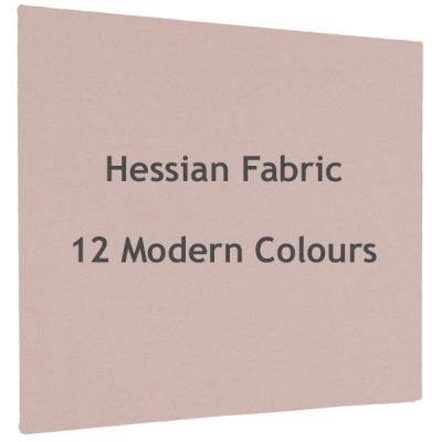 hessian unframed notice boards in a choice of 12 modern colours