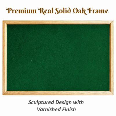 real oak wood frame notice boards