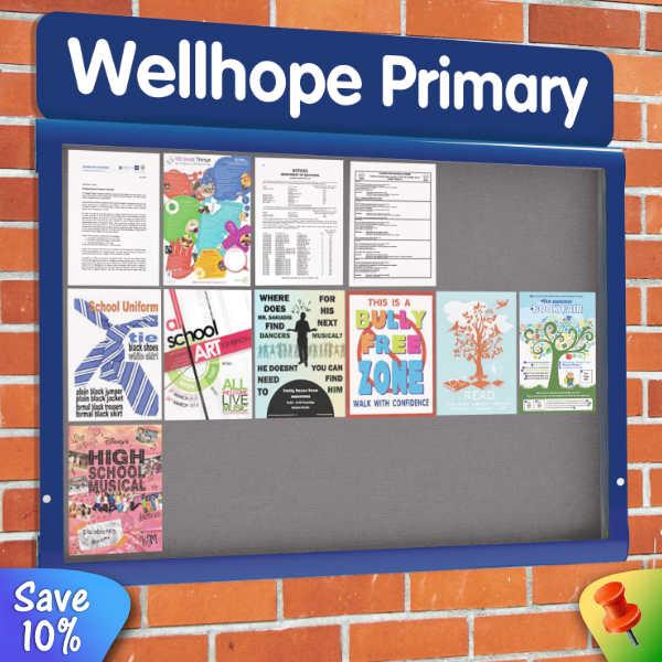 WeatherShield External Notice Board printed Header panel