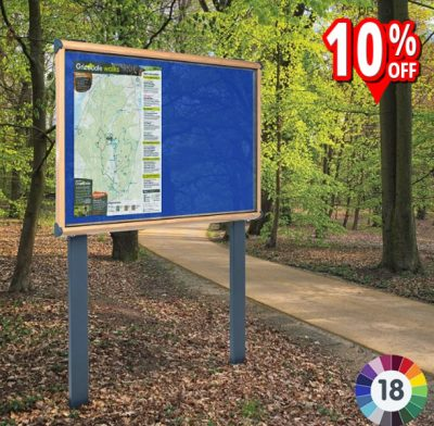 wood effect frame external notice board