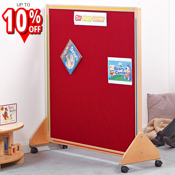 Mobile Wooden Framed Junior Partition