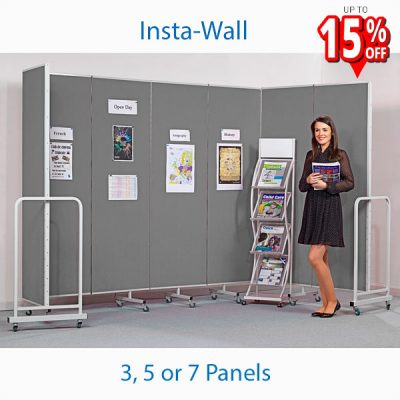 mobile folding partition display screen