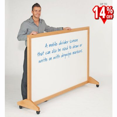 mobile wood framed whiteboard