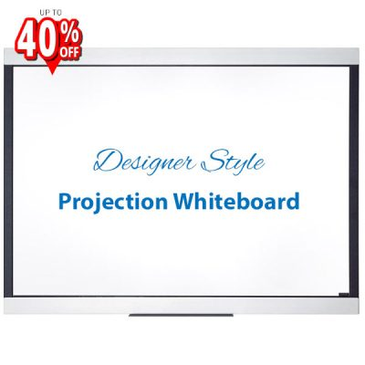 Expression projection whiteboard with designer style frame