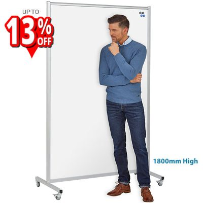 Full-length Double Sided Mobile whiteboard