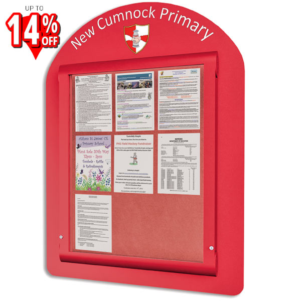 external notice board rounded header panel