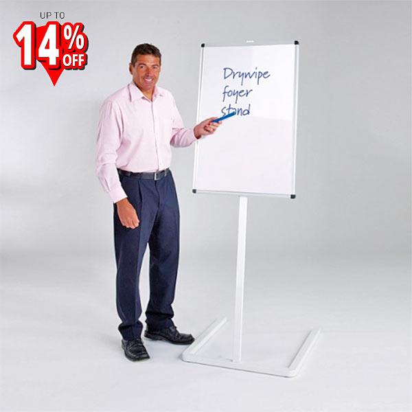 free-standing drywipe foyer board