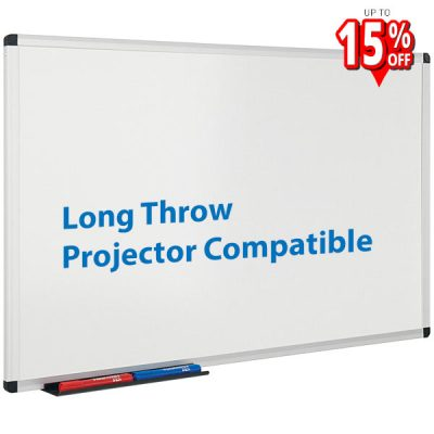 Long throw projection whiteboard