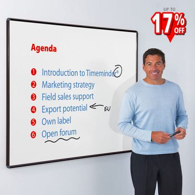 projection whiteboards with Black Aluminium frame