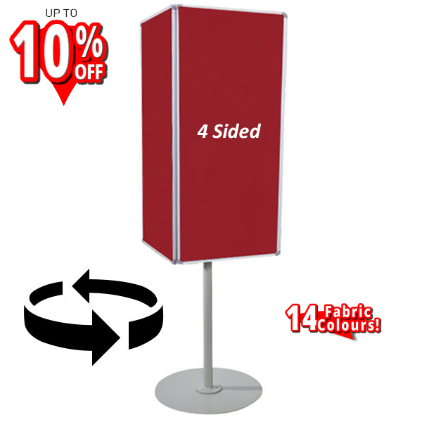 rotating 4 sided notice board