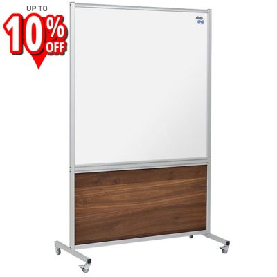 premium mobile whiteboard wood panel stand