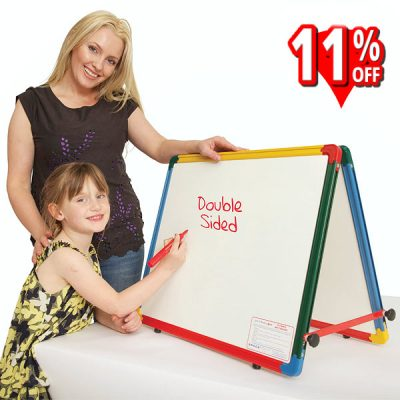 double-sided desktop whiteboard easel