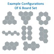 Hexagon shaped Notice Boards example configurations