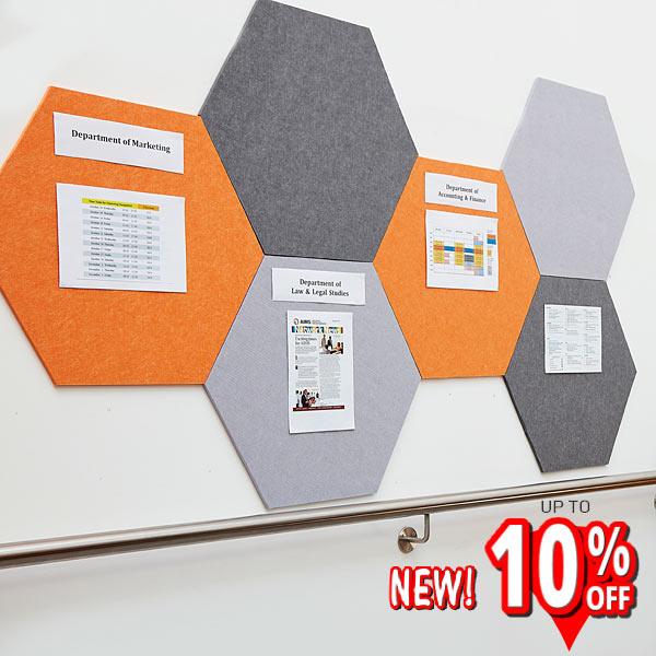 Hexagon Shaped Notice Boards