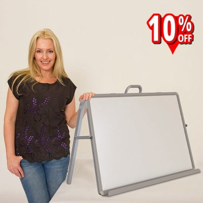 Read n Write magnetic whiteboard desktop easel