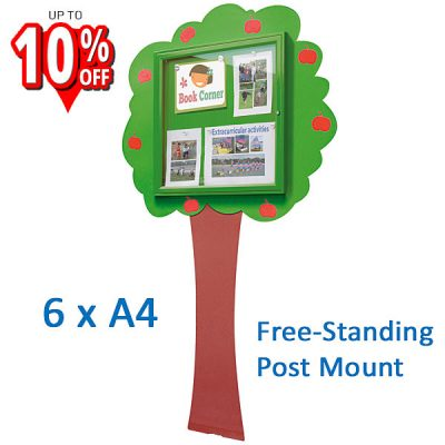Tree shaped external notice board