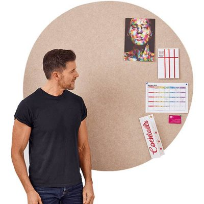 PolyShape Frameless Circle Notice boards