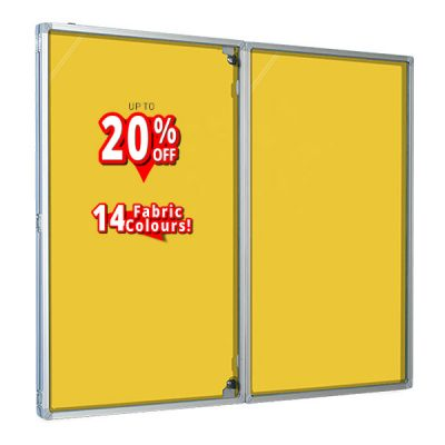 Loop nylon Tamperproof Notice Boards in yellow