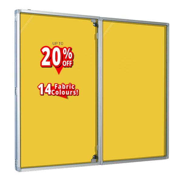 Loop nylon Tamperproof Notice Boards in yellow