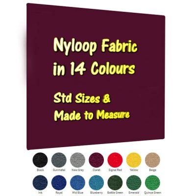 nyloop frameless notice boards Claret unframed