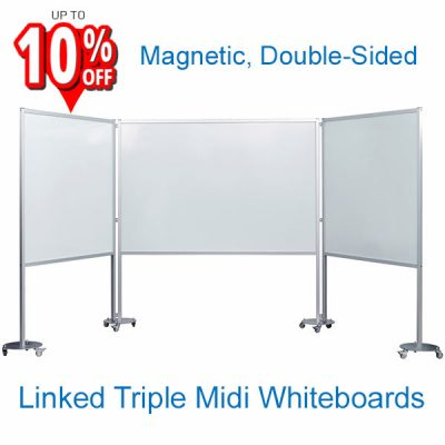 3 Panel Mobile Whiteboard Midi System