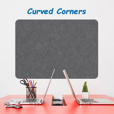 Eco Curved Corner Frameless Notice Boards