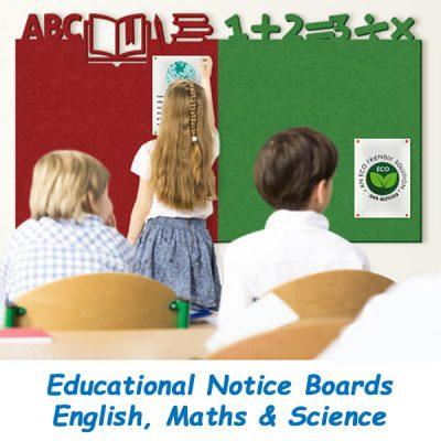 Education Frameless Notice Boards