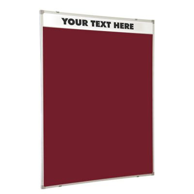 Printed Header Notice Board Aluminium Framed