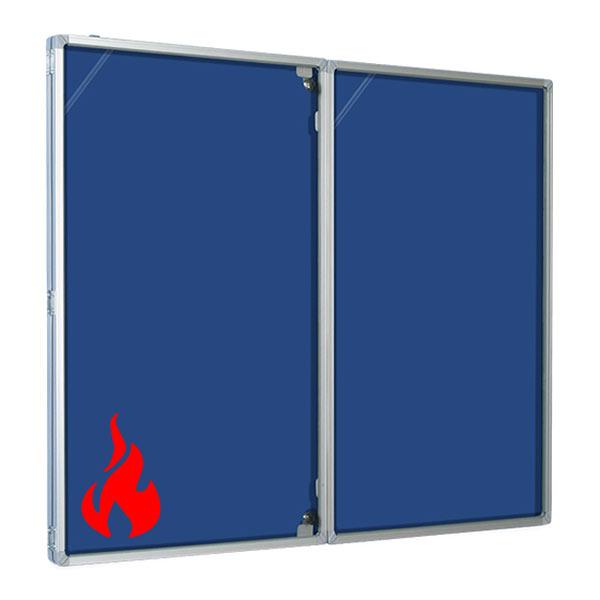 Economy Fire Resistant Tamperproof Notice Board in blue