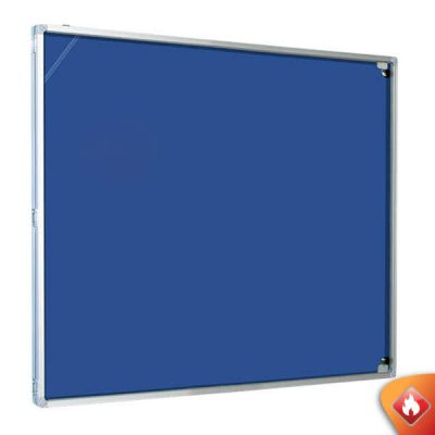 Economy Fire Resistant Tamperproof Notice Board in blue or grey