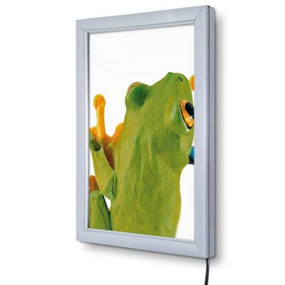Economy LED Illuminated Snap Frame Anodised