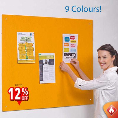 Accents fire rated unframed noticeboards