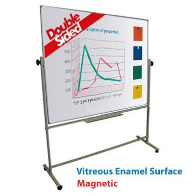 Vitreous Enamel Magnetic Revolving Whiteboard
