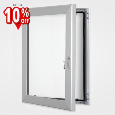 lockable Silver outdoor poster frame