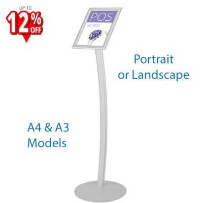 Aluminium Curved Poster Stand