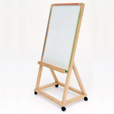 Solid Wood Mobile Whiteboard Easel