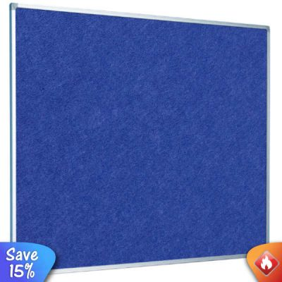 eco fire resistant notice board aluminium frame in blue or grey