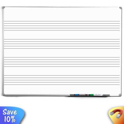 magnetic music ruled whiteboard